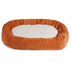 "24"" Orange Villa Collection Sherpa Bagel Bed"