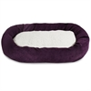 "40"" Aubergine Villa Collection Sherpa Bagel Bed"