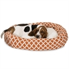 "Majestic 32"" Burnt Orange Bamboo Sherpa Bagel Bed"