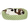 "Majestic 32"" Sage Bamboo Sherpa Bagel Bed"