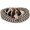 "Majestic 32"" Chocolate Chevron Sherpa Bagel Bed"