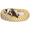 "32"" Yellow Chevron Sherpa Bagel Bed"