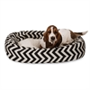 "Majestic 32"" Black Chevron Sherpa Bagel Bed"