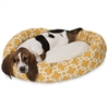 "Majestic 32"" Yellow Links Sherpa Bagel Bed"