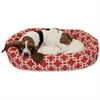 "Majestic 32"" Red Links Sherpa Bagel Bed"