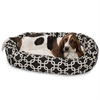 "Majestic 32"" Black Links Sherpa Bagel Bed"