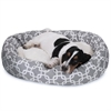 "Majestic 32"" Grey Links Sherpa Bagel Bed"