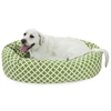 "Majestic 40"" Sage Bamboo Sherpa Bagel Bed"