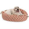 "Majestic 40"" Burnt Orange Chevron Sherpa Bagel Bed"