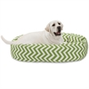 "Majestic 40"" Sage Chevron Sherpa Bagel Bed"