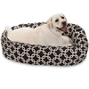 "40"" Black Links Sherpa Bagel Bed"