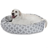 "Majestic 40"" Grey Links Sherpa Bagel Bed"