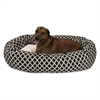 "Majestic 52"" Black Bamboo Sherpa Bagel Bed"