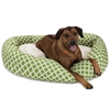 "Majestic 52"" Sage Bamboo Sherpa Bagel Bed"