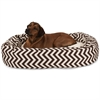 "Majestic 52"" Chocolate Chevron Sherpa Bagel Bed"