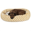 "Majestic 52"" Yellow Chevron Sherpa Bagel Bed"