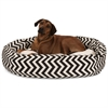 "52"" Black Chevron Sherpa Bagel Bed"