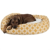 "Majestic 52"" Yellow Links Sherpa Bagel Bed"