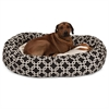 "52"" Black Links Sherpa Bagel Bed"