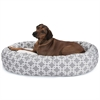 "Majestic 52"" Grey Links Sherpa Bagel Bed"