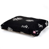 Black Coral Small Rectangle Pet Bed