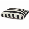 Majestic Black Vertical Stripe Small Rectangle Pet Bed