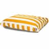 Yellow Vertical Stripe Small Rectangle Pet Bed