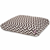 Majestic Chocolate Chevron Small Rectangle Pet Bed