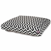 Black Chevron Small Rectangle Pet Bed
