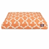 Peach Trellis Small Rectangle Pet Bed