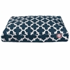Navy Trellis Small Rectangle Pet Bed