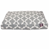 Gray Trellis Small Rectangle Pet Bed