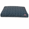 Navy Blue Navajo Small Rectangle Pet Bed