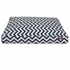 Majestic Navy Blue Chevron Small Rectangle Pet Bed