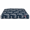 Majestic Navy Sea Horse Small Rectangle Pet Bed