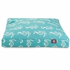 Teal Sea Horse Small Rectangle Pet Bed