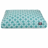Teal Links Small Rectangle Pet Bed