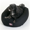 "24"" Black Bagel Bed By Pet Products"