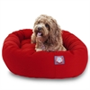 "Majestic 32"" Red Bagel Bed By Majestic Pet Products"