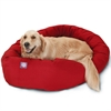 "40"" Red Bagel Bed By Pet Products"