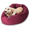 "40"" Burgundy Bagel Bed By Pet Products"