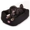 "24"" Black & Sherpa Bagel Bed By Pet Products"