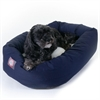 "Majestic 24"" Blue & Sherpa Bagel Bed By Majestic Pet Products"