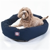 "Majestic 32"" Blue & Sherpa Bagel Bed By Majestic Pet Products"