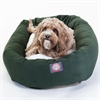 "Majestic 32"" Green & Sherpa Bagel Bed By Majestic Pet Products"