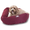 "32"" Burgundy & Sherpa Bagel Bed By Pet Products"
