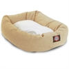 "Majestic 32"" Khaki & Sherpa Bagel Bed By Majestic Pet Products"
