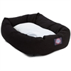 "Majestic 40"" Black & Sherpa Bagel Bed By Majestic Pet Products"