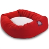"Majestic 40"" Red & Sherpa Bagel Bed By Majestic Pet Products"