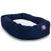 "Majestic 40"" Blue & Sherpa Bagel Bed By Majestic Pet Products"